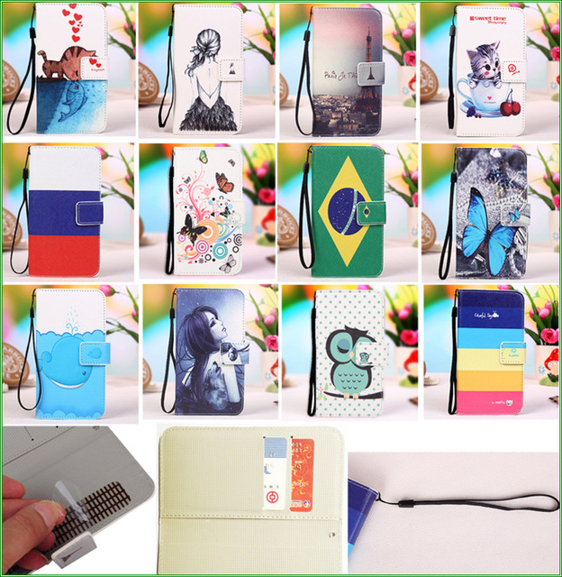 "Cubot X16 Case,Colourful PU Leather Case for Cubot X16 5.0"" Eiffel Tower Butterfly Kitty Brazil Flag Pattern Phone Cover case"