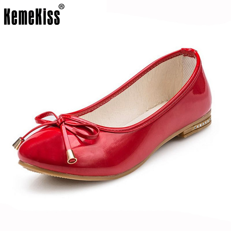 women flat shoes ladies round toe bowknot ballet flats shoes large size shoes women quality flats footwear size 36-40 WC0198 meotina ladies shoes pointed toe flats ankle strap ballet shoes yellow blue patent leather flat shoes women large size 9 10 42
