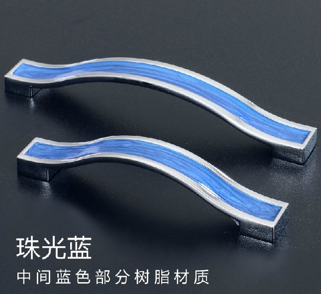 20PCS Blue Amber handle and knobs /crystal drawer pull /furniture hardware handle / door pull ( C.C.:96mm L:110mm)