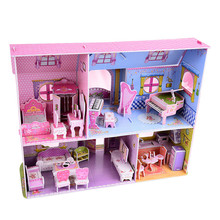 3D Funny Model Kits DIY Princess House Puzzles Education Toy Best Home For Kids Decorate Creative Gifts Toy for children QA