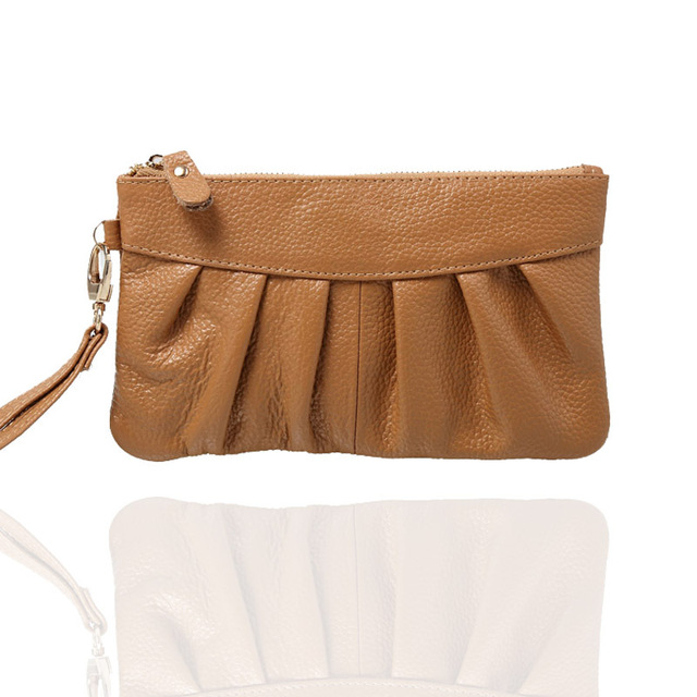 2013 clutch genuine leather long design wallet, zipper female long design cosmetic bag, women's clutch bag, ,free shipping