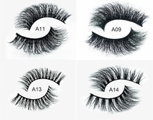 New 1 pair 3D mink eyelash wholesale 100% real mink fur Handmade crossing lashes D008 individual strip thick lash