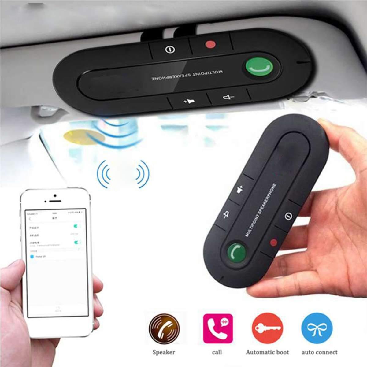 Hands-free Car Kit bluetooth carro Receptor de Chamada V4.1 de Reprodução de Música Sem Fio bluetooth Speakerphone Mic Universais Para Telefone Celulares