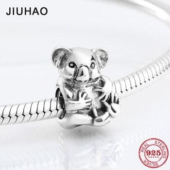 513a4f1ee530 Amo a los animales de Plata de Ley 925 de moda encantadora koala forma  cuentas Original Pandora pulsera del encanto de la joyería haciendo