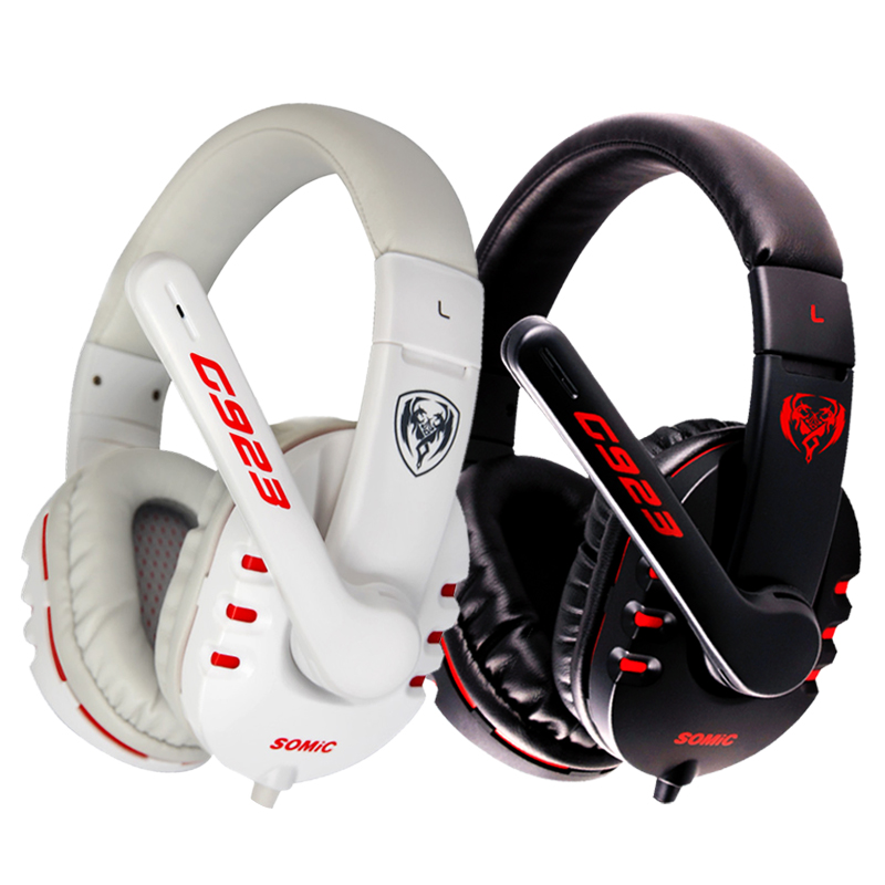 Original SOMiC G923 Stereo Sound Gaming Headphone with Microphone PC Headset computer game in Headphone Headset from Consumer Electronics