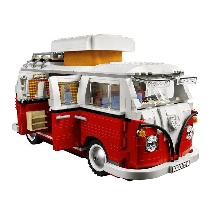 YILE 306 Ideas series El T1 Camper Van modelo bloques de construcción Compatible 10220 Classic Technic coche de estilo juguetes para niños