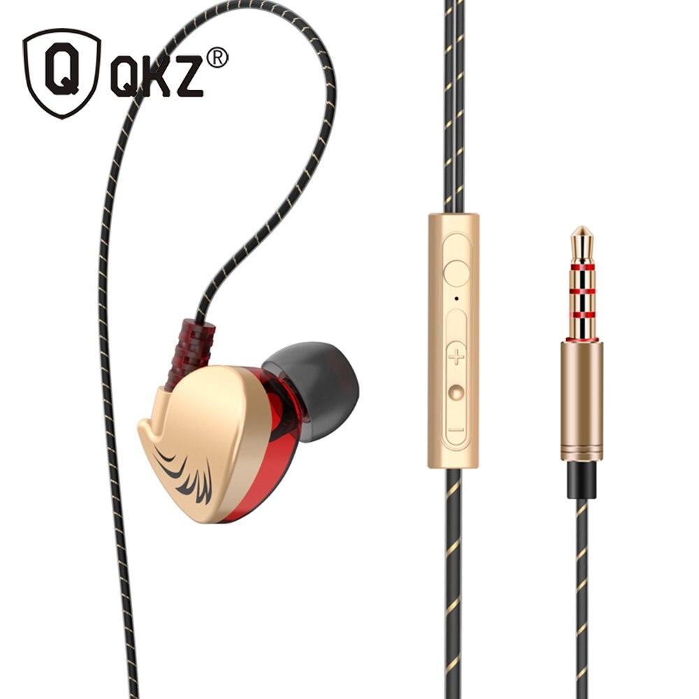 QKZ CK7 стерео наушники в ухо гарнитура наушники бас наушники для iPhone huawei Xiaomi 3,5 мм наушники с микрофоном