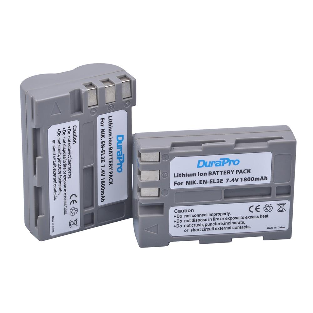 2 x DuraPro EN-EL3e EN EL3e EL3a ENEL3e Digital Camera Battery for Nikon D300S D300 D100 D200 D700 D70S D80 D90 D50 MH-18A 2x 2200mah en el3e enel3e battery usb charger for nikon d90 d80 d300 d300s d700 d200 d70 d50 d70s d100 d 100 d 300 d 70 d 90 slr