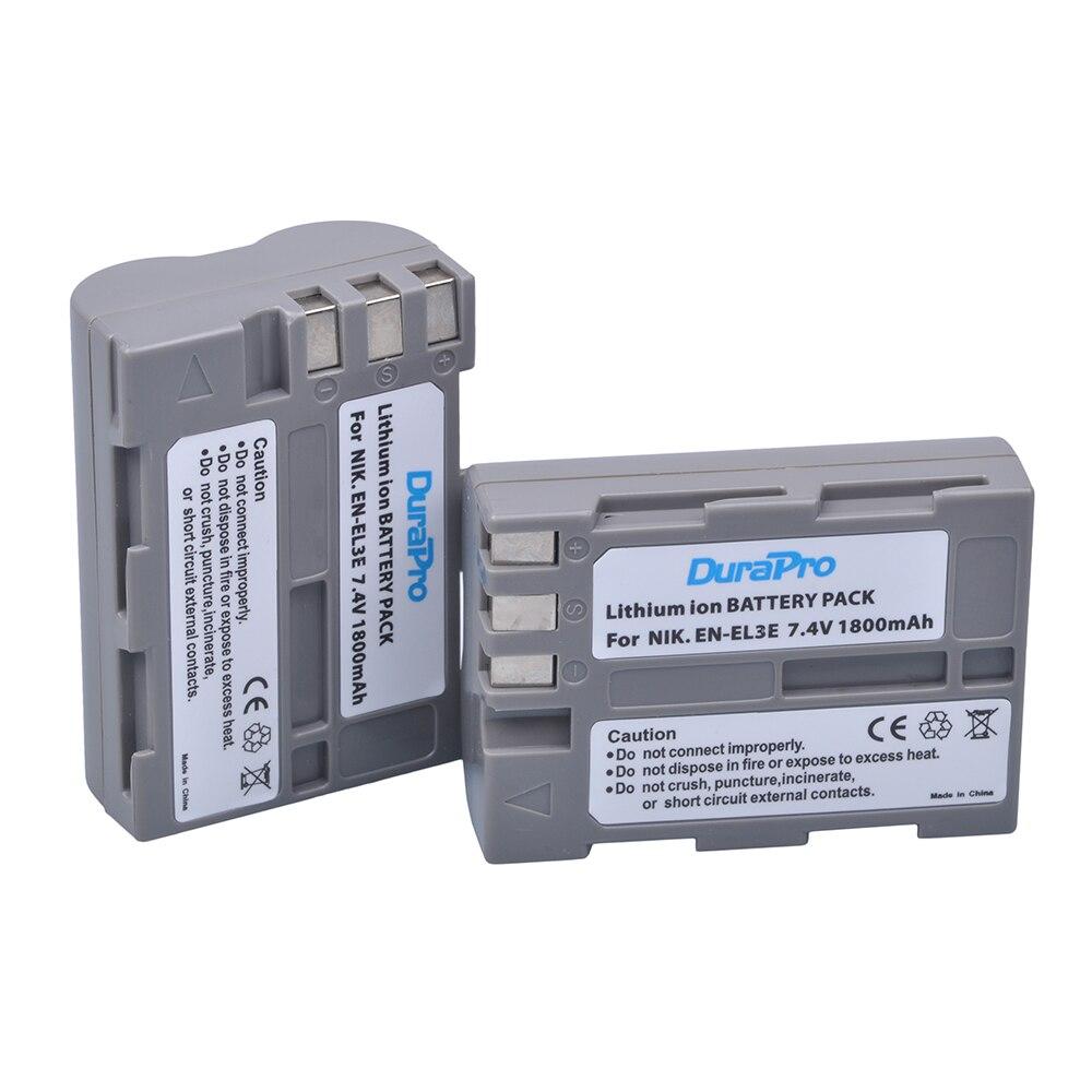 2 x EL3a DuraPro EN-El3e EN El3e ENEL3e Batteria Della Fotocamera Digitale per Nikon D300S D300 D100 D200 D700 D70S D80 D90 D50 MH-18A