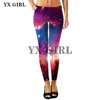 2018 New Arrival Womens Galaxy Pattern Leggings Thermal Sexy Elastic Workout Fitness Warm Autumn Winter Leginsy Pants