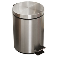 NHBR 8L Bathroom Trash Can Round Step Foot Pedal Dustbin Bucket With Lid Desktop Toilet Kitchen Car Bucket Garbage Can
