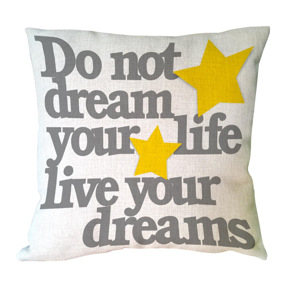Custom Positive Sign Letter Linen Pillow Case Accent Sofa Chair Car Throw Pillow Cover D ...