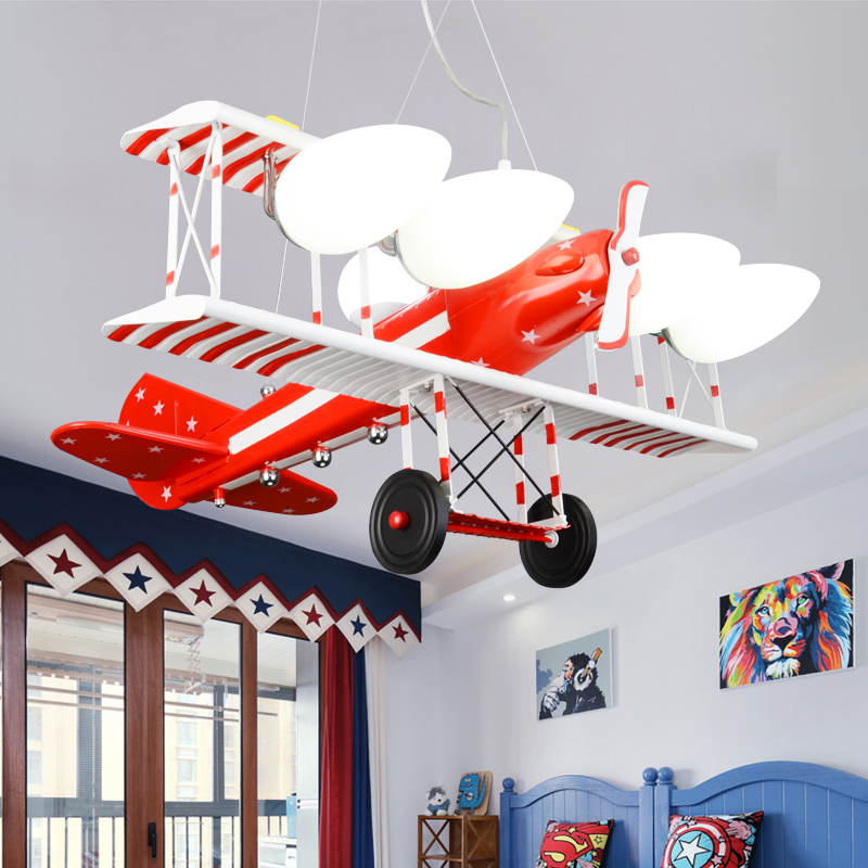 American retro machine Pendant Lights children bedroom lamp boy room cartoon light creative led chandelier TA9215 wrought iron chandelier aircraft lamp boy children master bedroom room led chandeliers creative cartoon