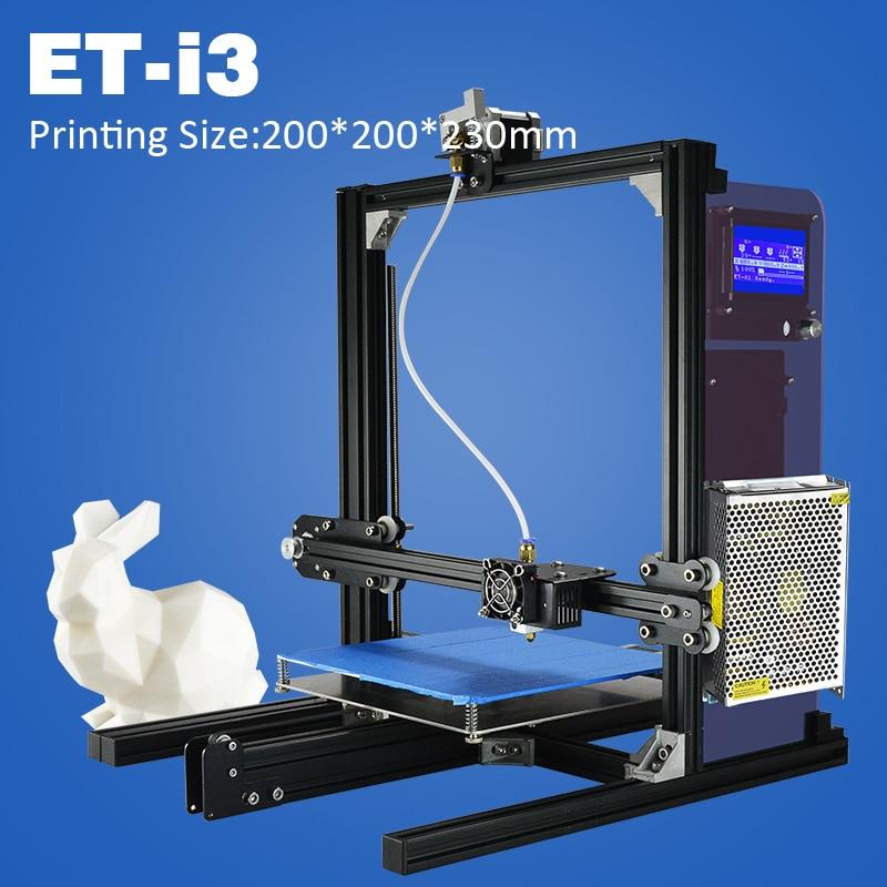Nueva impresora 3d de gran tamaño de construcción et i3 impresora 3d con Pantall
