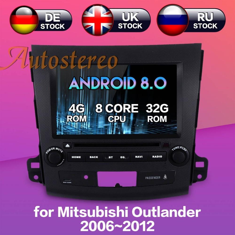 Plus récent Android8.0 7.1 Voiture lecteur DVD GPS Navigation pour Mitsubishi Outlander 2006 ~ 2012 Pour Citroen C-crosser pour peugeot 4007