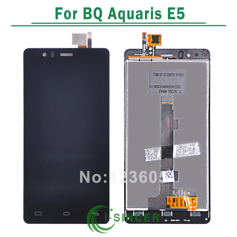 imágenes para Para BQ Aquaris E5 Pantalla LCD Táctil Digitalizador Asamblea Calidad AAA Negro 5K0858 5k0759 5K0982 5k0760 Versiones