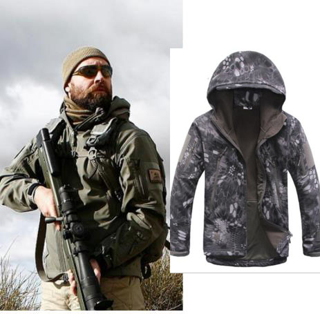 Outdoor Sport Softshell Jackets Or Pants Men Hiking Hunting Clothes TAD Camouflage Military Tactical Sets Camping Hunting Jacket