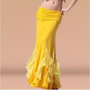 Image 1 - Gorąca wyprzedaż! Nowa spódnica do tańca brzucha z kryształowej bawełny dla kobiet spódnice do tańca brzucha do tańca brzucha