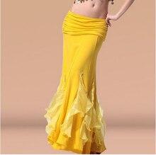 ¡Gran oferta! Nueva falda de algodón de cristal para danza del vientre para mujeres, faldas de competición de danza del vientre