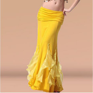 Image 1 - HOT SALE! new crystal cotton belly dance skirt for women belly dance crimping skirts  belly dance competition clothes