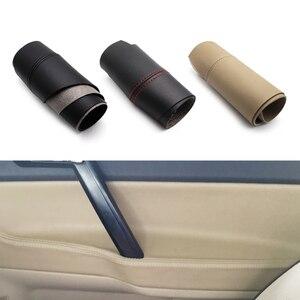 Image 1 - Apoyabrazos para manija de puerta de coche, cubierta de cuero de microfibra para VW POLO 2004 2005 2006 2007 2008 2009 2010 Hatchback/Sedan