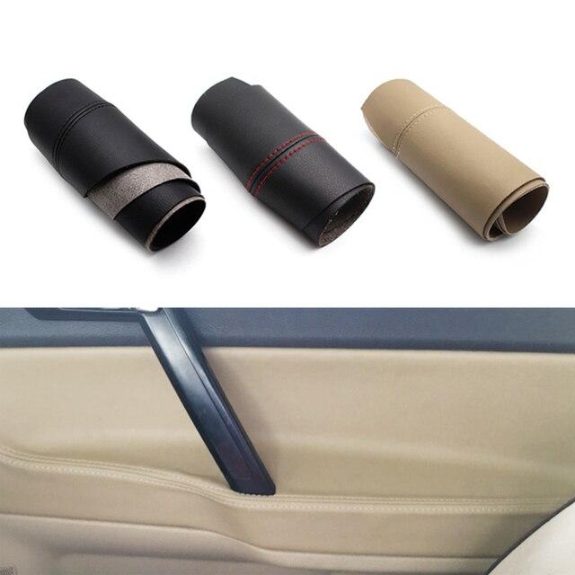 Apoyabrazos para manija de puerta de coche, cubierta de cuero de microfibra para VW POLO 2004 2005 2006 2007 2008 2009 2010 Hatchback/Sedan
