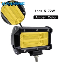 5 Inch 72W 3000K 6000K Offroad Led Work Light Bar Fog Lights for Trucks SUV ATV 4x4 4D Spot Beam Working