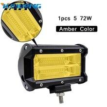 5 zoll 72 W 3000 K 6000 K Offroad Led Work Licht Bar Led nebelscheinwerfer für Lkw SUV ATV 4x4 4D Spot Beam Led Arbeits Licht