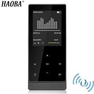 HAOBA MP3 плеер Bluetooth 4,0 Сенсорный экран двойной аудио выход металлический без потерь Музыкальный плеер Поддержка FM Электронная книга рекордер