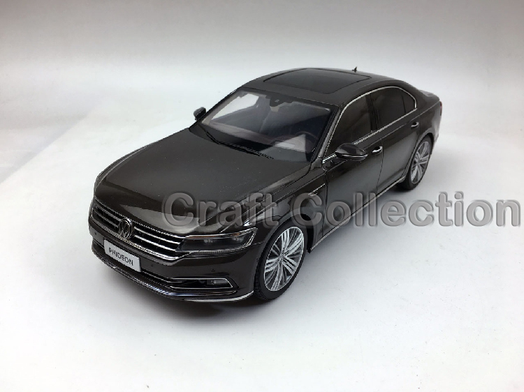 * Brown 1:18 Volkswagen VW Phideon 2016 Diecast Model Car Metal Sedan Modell Autos Festival Gifts Mini Vehicle