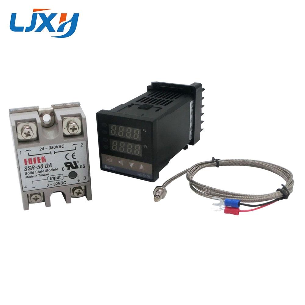 Image 3 - Цифровой PID контроль температуры Лер термостат REX C100 Тип K термопары зонд SSR реле для контроля температуры нагревателя-in Запчасти для электроводонагревателей from Бытовая техника
