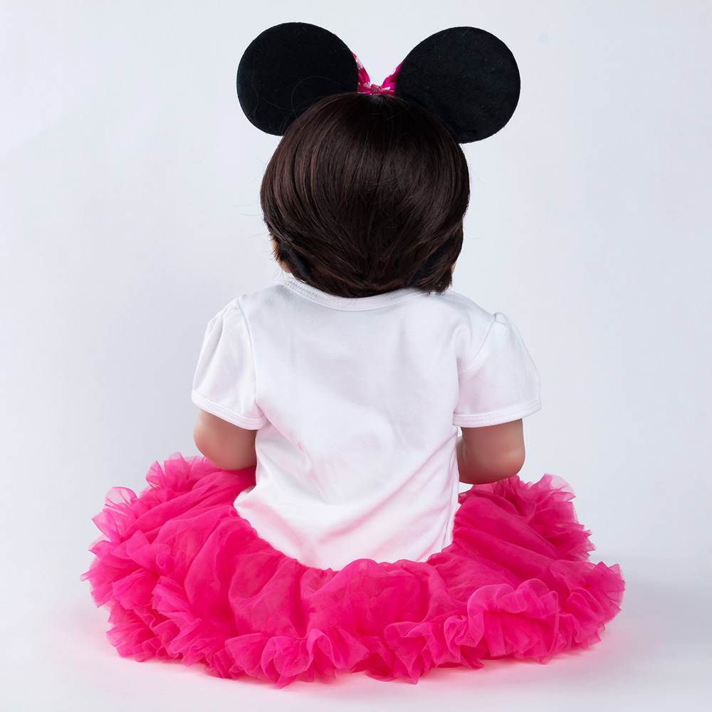 Réaliste Reborn bébé poupée nouveau-né jouets pour enfants cadeaux de noël corps entier Silicone fille Reborn poupées cadeau d'anniversaire - 3