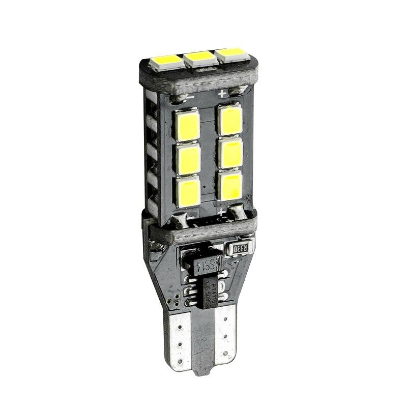 KATUR 2Pcs T15 W16W 15 LED 5050 SMD Canbus Error Free Reverse Parking Lights Bulb DC12V