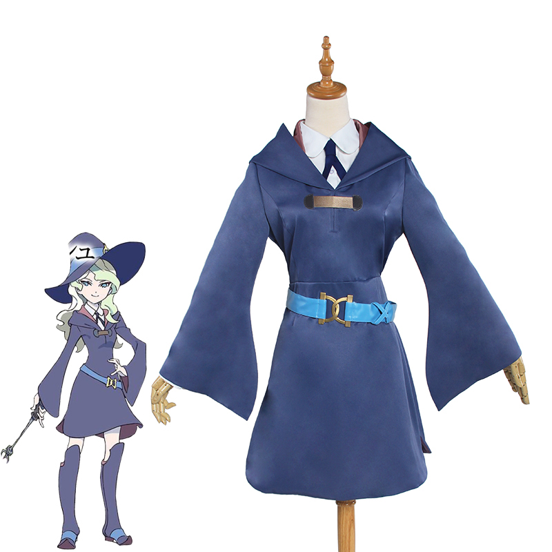 Diana Cavendish Cosplay costumes Little Witch Academia School Uniform Hallowen Costume Women Cosplay Diana