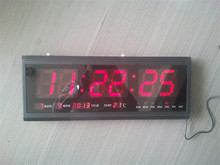 HT4819SM-3,Free Shipping,Aluminum Large Digital LED Wall Clock ,Big Watch Modern Design,Digital clock! Led electronic calendar