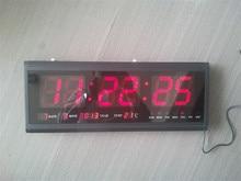 HT4819SM-3,Free Shipping,Aluminum Large Digital LED Wall Clock ,Big Watch Modern Design,Digital clock! Led electronic calendar