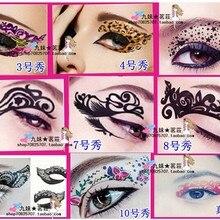 Хит, 5 пар = 10 шт/партия, танцевальная Сексуальная королевская татуировка для глаз, карандаш для лица, татуировки, наклейки