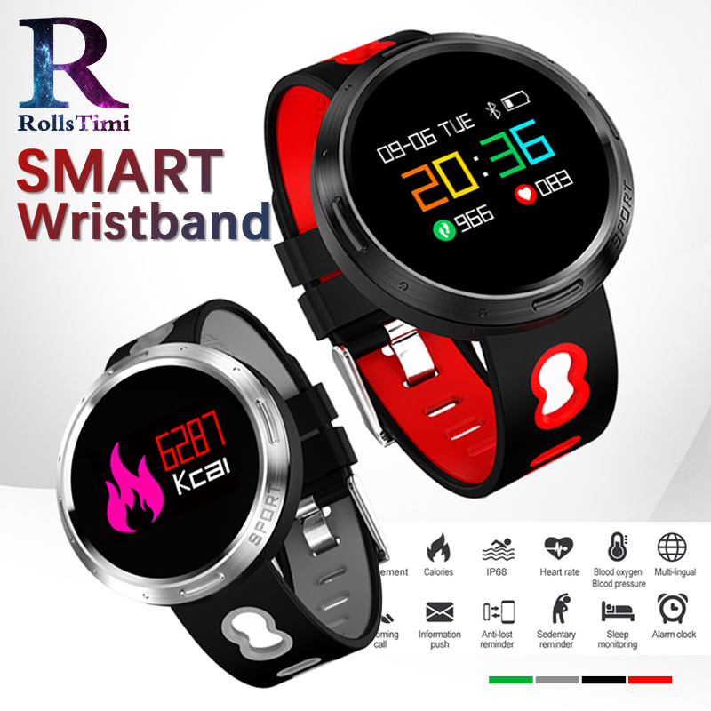 Men Smart Sports Watches IP68 Waterproof Fitness Tracker Wristband Heart Rate Blood Pressure Monitor Weather Forecast