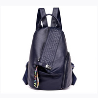 European and American Style Women Genuine Leather Backpacks Casual Travel Women School Bag Large Capacity Backpack