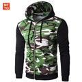 Men Hoodies Jacket Brand Clothing Fashion Hoodies Man Casual Camouflage Splicing Slim Hoody Sweatshirt Sportswear Zipper Hoodie