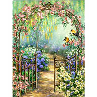 Diamond Painting Garden Scenic DIY Diamond Embroidery Flower Full Square Rhinestones Cross Stitch Bird Mosaic Home Decor