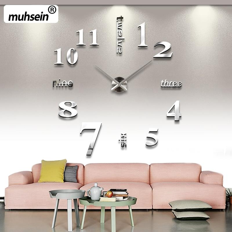 2020 Ərəb rəqəmləri Divar Saatı Yaradıcılıq Müasir DIY 3D - Ev dekoru - Fotoqrafiya 4