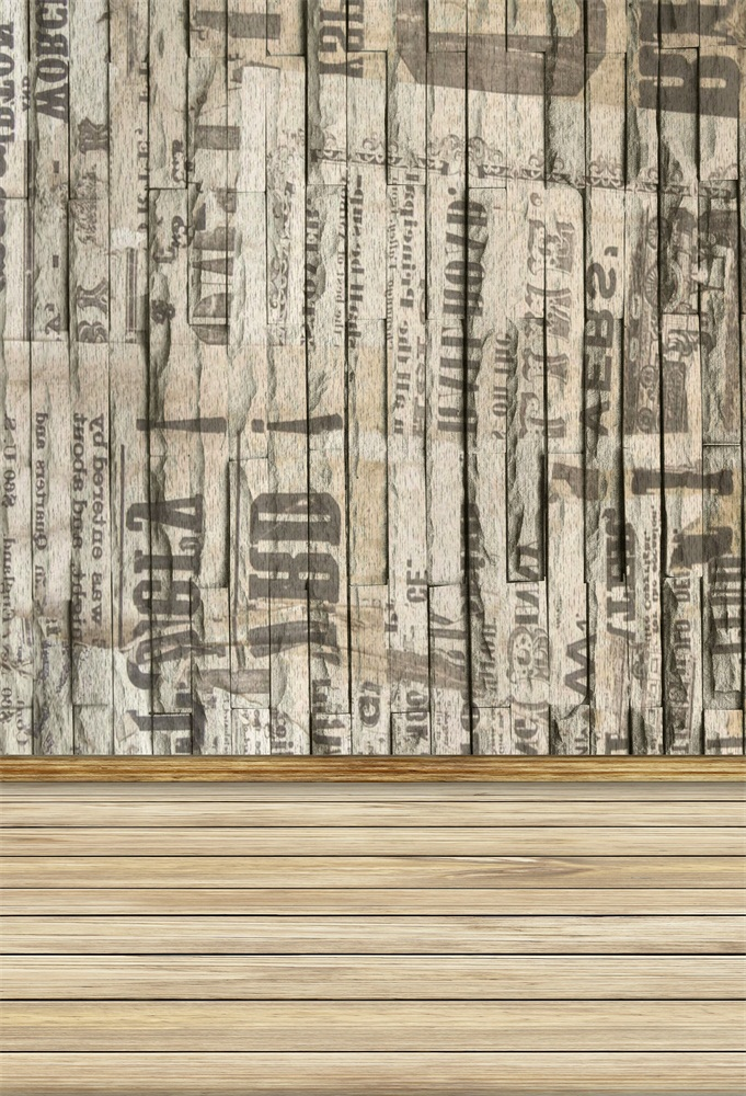 Laeacco Old Wall Letter Wooden Floor Photo Backgrounds Vinyl Digital Customized Photography Backdrops For Photo Studio