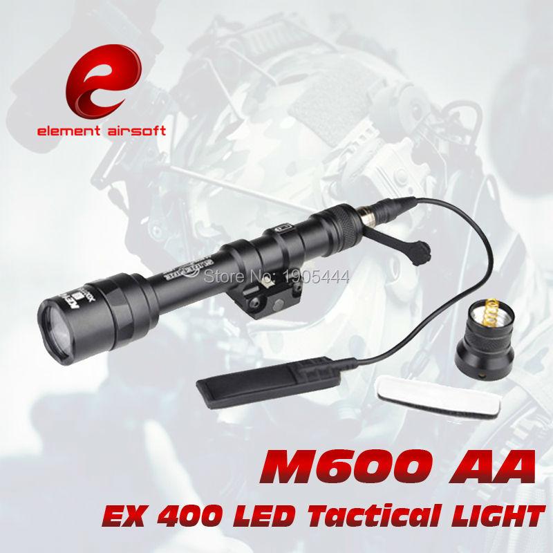 EX 400 Element tactical light SF M600AA MINI SCOUT Flashlight Hunting Weapon Lights aimtis sf xc1 tactical light pistol mini hunting led flashlight airsoft military weapon lights tac lanterna shot g17 g18 g19