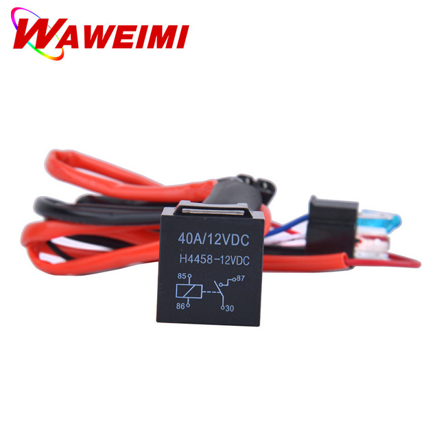 2pcs Motorcycle Headlight Cable H4 3 Wire Harness Wiring Relay Fuse Socket Black Head light Connector_640x640 2pcs motorcycle headlight cable h4 3 wire harness wiring relay fuse