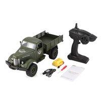 JJRC Q61 1:16 RC грузовик пульт дистанционного управления 2,4 г 6WD гусеничный внедорожный военный грузовик RTR игрушки для детей радио-управление led г...