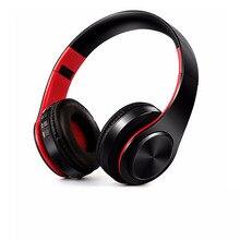 Colorido libre del envío de Audio estéreo Mp3 Auricular Bluetooth Auriculares Inalámbricos Auriculares tarjeta SD de la ayuda con el mic jugar 10 horas