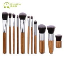 GreenDoor Professional Bamboo Makeup Brush Set 11pcs Powder Foundation Concealer Nose Make Up Brushes Cosmetic Tools Kit