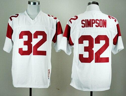 huge discount d2d8b 8a90d 32 OJ Simpson Jersey USC Trojans Men's Stiched Name And ...