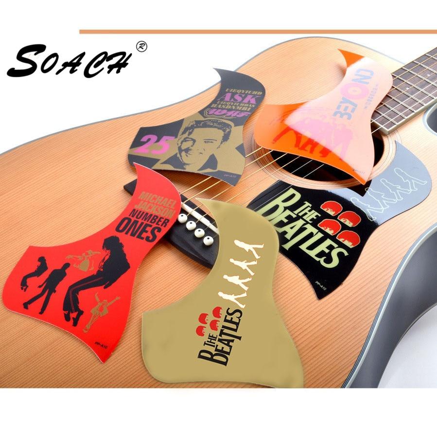 SOACH 1pc new Musician / band pattern Acoustic Guitar Pickguards Practical Hummingbird Scratch Plate guitar part & Acessorios